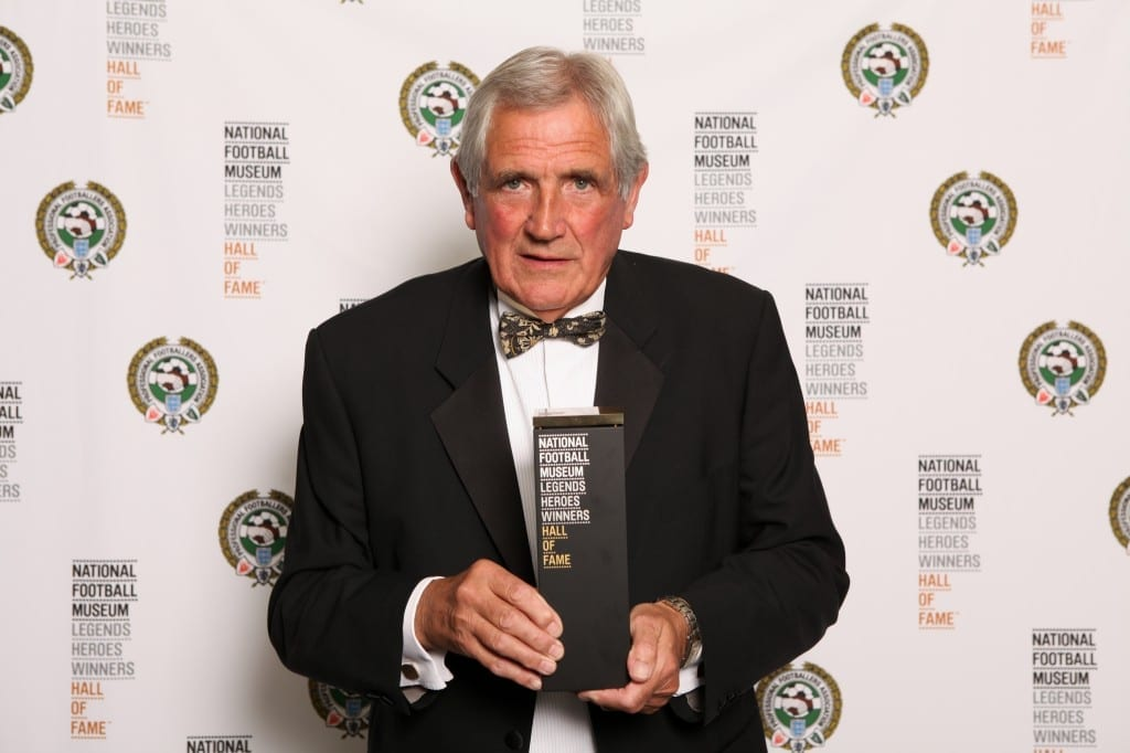 Pictured Norman Hunter with his award at the National Football Museum Hall of Fame Award Evening 2015 Picture: Jason Lock