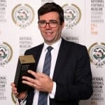 Andy Burnham MP collects Neville Southall's National Football Museum Hall of Fame award on his behalf.   Picture © Jason Lock Photography