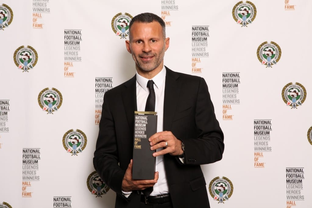 Ryan Giggs with his award at the National Football Museum Hall of Fame Award Evening 2015  Picture: Jason Lock