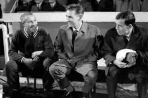 League Cup Quarter Final  Manchester United v Derby County Derby manager Brian Clough.  December 1969. Pic via Mirrorpix