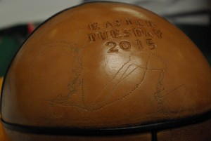 Uppies & Downies ball engraved with players' GPS data. Unruly Pitch, 2015.