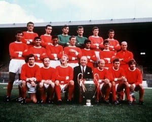 Manchester United 1968  European Cup Winners 1968. Pic via Mirrorpix.