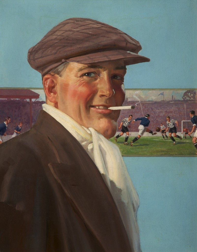 Painting: 'At the Match' by Alfred Lambert, Circa 1925 - E857.186-2-801x1024