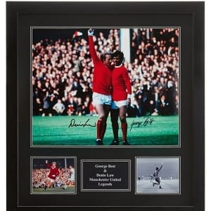 George Best Denis Law Signed Manchester United Photograph