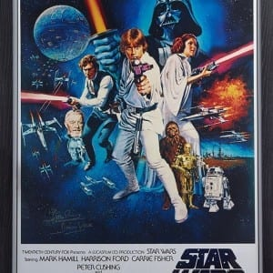 Dave Prowse Star Wars Signed Poster