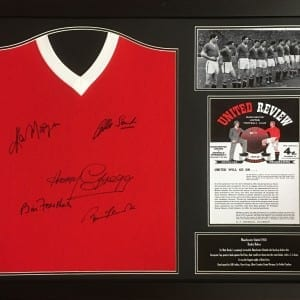 Manchester United Signed Busby Babes Shirt