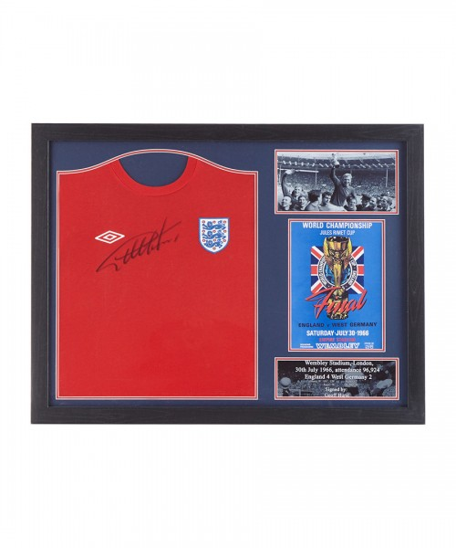 Geoff Hurst Signed Shirt Framed