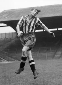Jackie Millburn  Newcastle United FC A young Ashington forward called Jack Milburn earned a trial with United in 1943. He impressed all and began the post-war era running the wing. He was soon to take the centre-forward?s role and cause quite an impact. Pic via Mirrorpix.