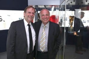 Pictured: Left, Chairman of the German FA Dr Rainer Koch and Chairman of English FA Greg Dyke. Picture © Jason Lock