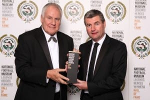 National Football Museum Hall of Fame evening. Denis Irwin and Joe Royle Picture: Jason Lock