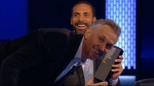Rio Ferdinand's acceptance video was interrupted by fellow Hall Of Fame member Gary Lineker.
