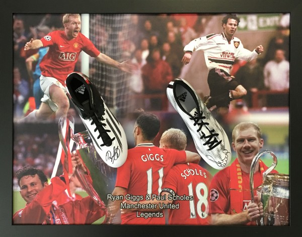 giggs scholes double boot printed