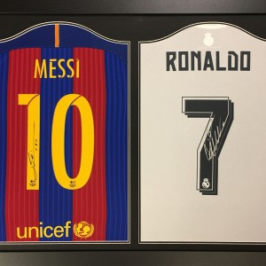 messi ronaldo double shirt 2017
