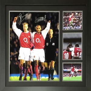 Henry & Bergkamp dual signed photo