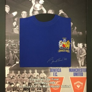 bobby charlton shirt printed mount