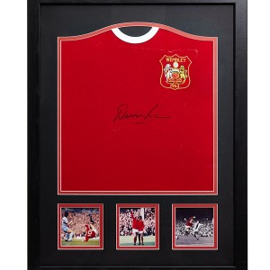 denis law signed shirt