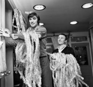 George Best decorating his Edwardian boutique 1967