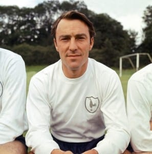 Jimmy Greaves from Tottenham Hotspur FC July 1965. Pic courtesy of Mirrorpix.