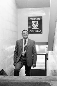 Bob Paisley at Anfield after taking over as Liverpool manager following the resignation of Bill Shankly. 26th July 1974. Pic courtesy of Mirrorpix