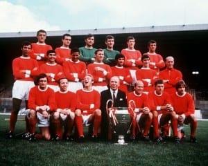 Manchester United 1968  European Cup Winners 1968. Pic via Mirrorpix.