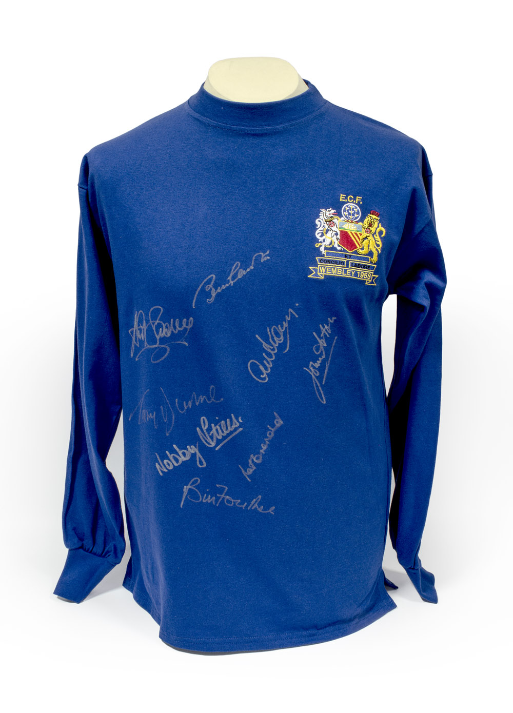 c87afbdf0 Manchester United Signed 1968 European Cup Final Shirt - NFM