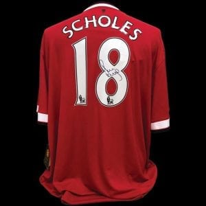 Paul Scholes Signed Manchester United Replica Shirt