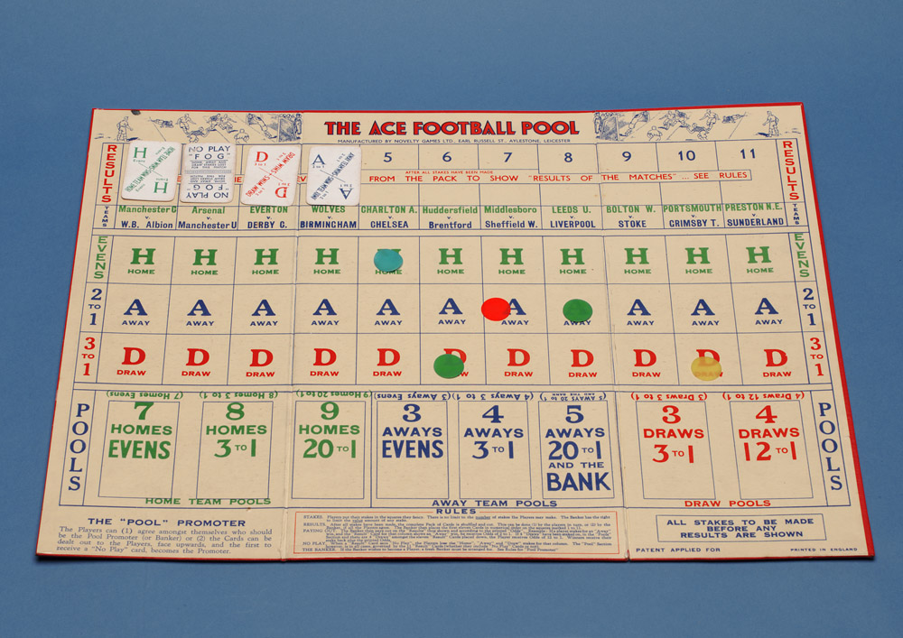 The Ace Football Pool Game, 1930s - National Football Museum