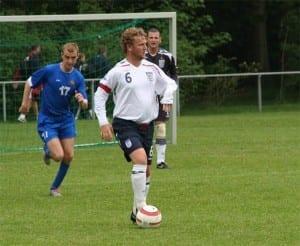 Gary Davies on England duty.