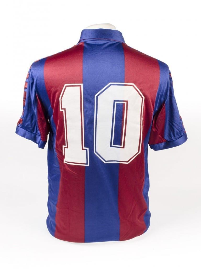 9ec46ae7e Diego Maradona s Barcelona Shirt