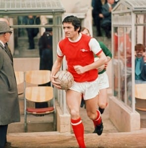 Arsenal's Frank McLintock. Pic courtesy of Mirrorpix.