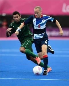 Matt Dimbylow in action for Team GB