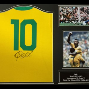 Pele Signed 1970 Brazil Shirt