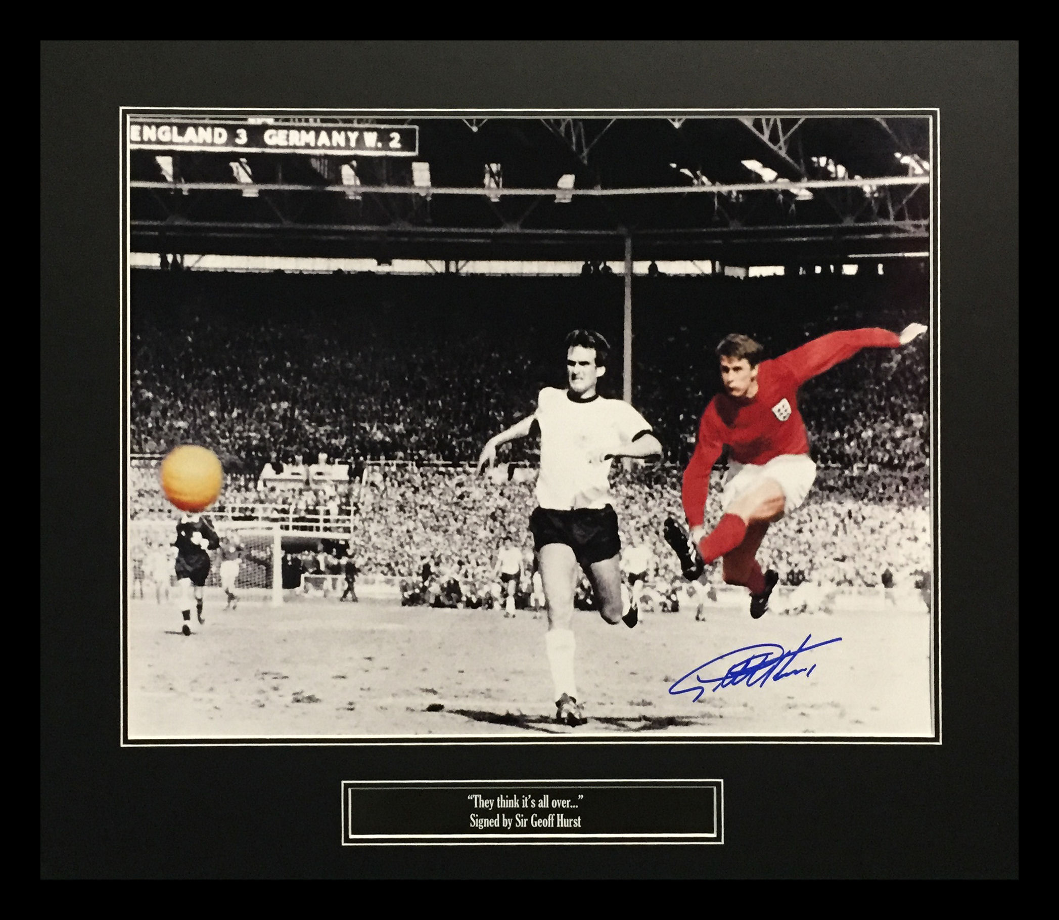 Sir Geoff Hurst England 1966 Signed Photo