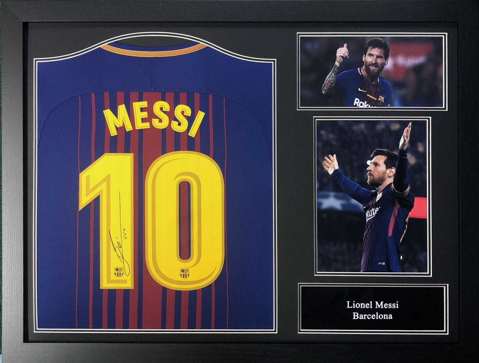 big sale c1b68 8b480 Lionel Messi Signed Shirt – Framed Silhouette or Photo's