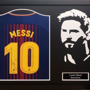Lionel Messi Signed Shirt – Framed Silhouette or Photo's