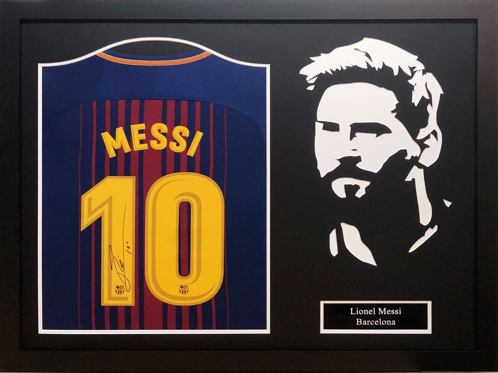 34c8d6009f9 lionel messi signed shirt – framed. Download Image 1632 X 1224