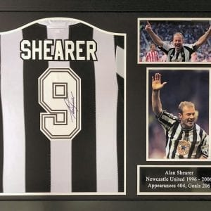 Alan Shearer Newcastle Signed Shirt – Framed