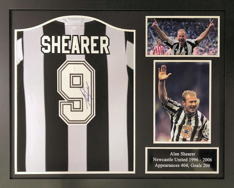 best website e254f 33821 Alan Shearer Newcastle Signed Shirt – Framed