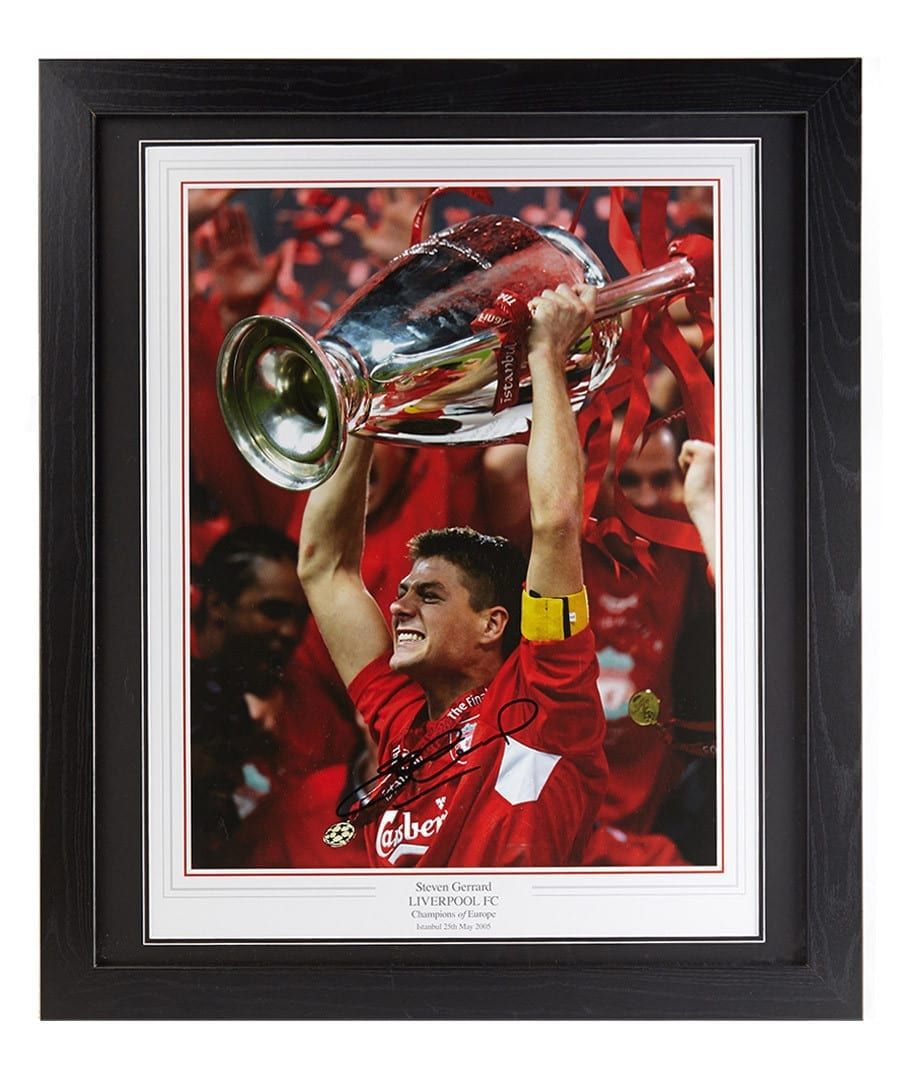 Steven Gerrard Signed Photo