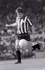 September 1985  Arsenal v Newcastle United Football Division One. Peter Beardsley. Pic courtesy of Mirrorpix.