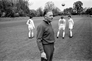 Tottenham Hotspur team training in preparation for their upcoming FA Cup final match.  Manager Bill Nicholson May 1967. Pic courtesy of Mirrorpix.