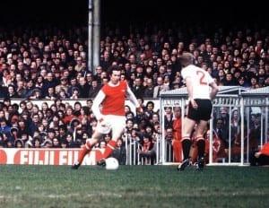 Liam Brady of Arsenal. Pic by Mirrorpix.