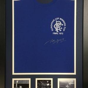 John Greig Signed Rangers Shirt