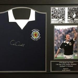 Archie Gemmill Scotland Signed Shirt