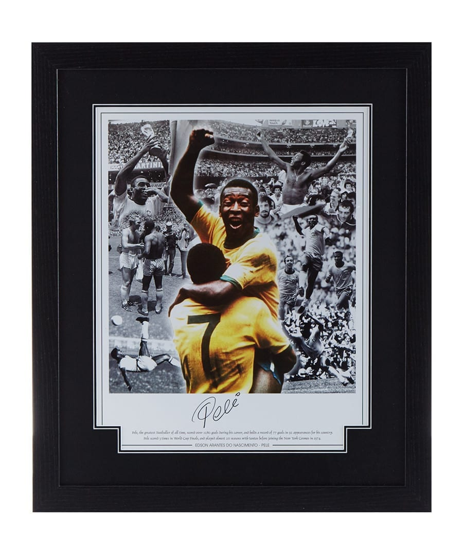 Pele Signed Montage Photo