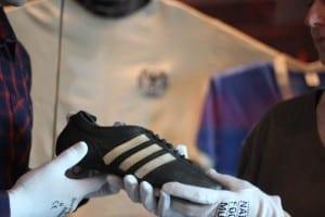 Boot worn by Franz Beckenbauer at 1966 World Cup.