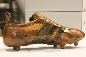 Boot worn by  Geoff Hurst at the 1966 World Cup.