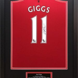 Ryan Giggs Signed Manchester United Shirt in Frame