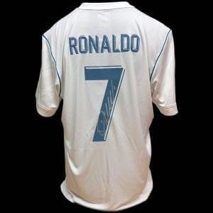 Cristiano Ronaldo Real Madrid Signed Shirt – Unframed