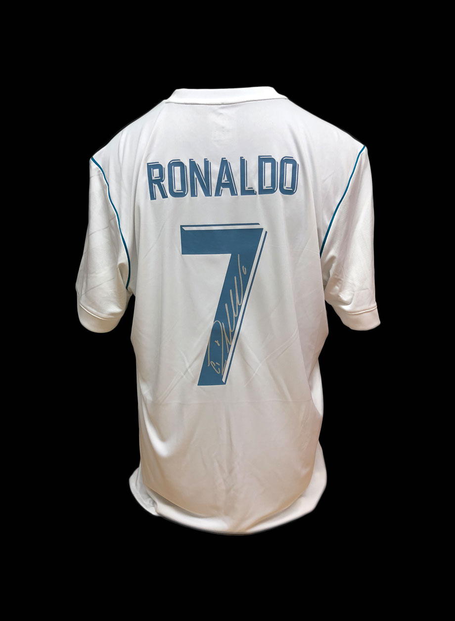 reputable site 91579 28432 Cristiano Ronaldo Real Madrid Signed Shirt – Unframed